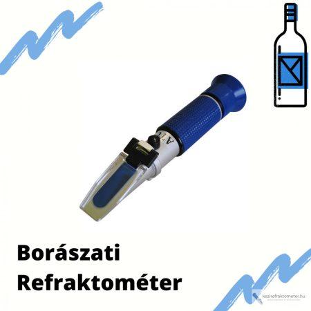 Borászati kézi refraktométer 3 skálával