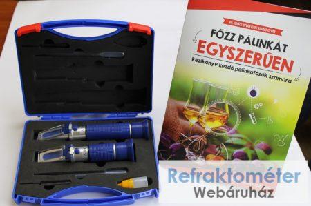 Pálinka mesterkészlet:  RHW25 és RHW80 refraktométerek + kézikönyv