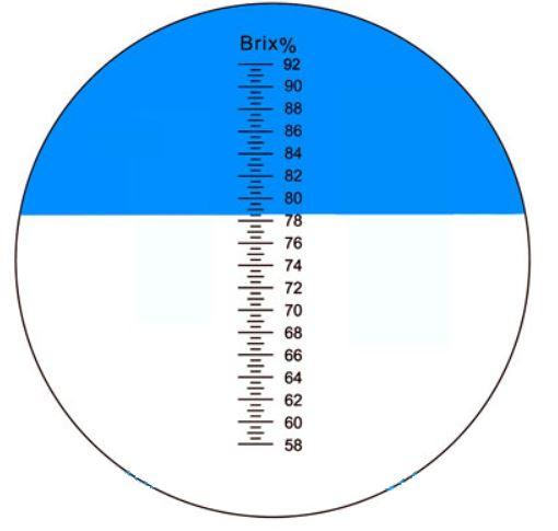 refraktométer skála