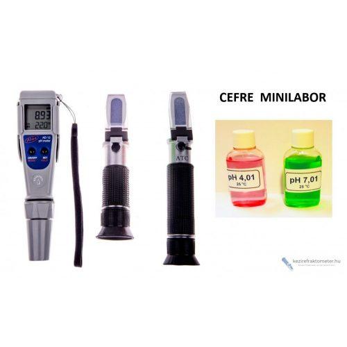 Cefre miniLABOR : cukor+pH+alkohol mérő + könyv!