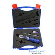 Három skálás borászati refraktométer diszkofferben