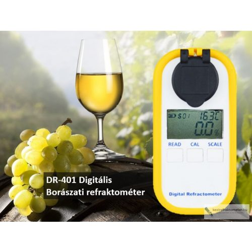 DR-401 Digitális borászati refraktométer ( magyar mustfokkal)